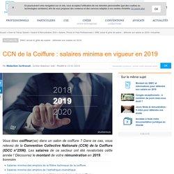 CCN de la Coiffure : salaires minima en vigueur en 2019