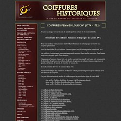 Coiffures Historiques - le site du manuel de coiffures historiques
