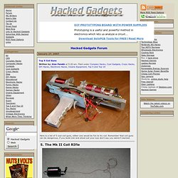 Top 5 Coil Guns - Hacked Gadgets - DIY Tech Blog