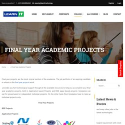 final year projects in Bangalore