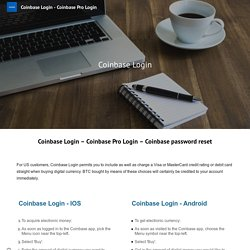 Coinbase Login - Coinbase Pro Login