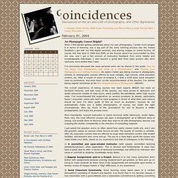 Coincidences: Are Photography Courses Helpful?