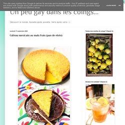 Gâteau mexicain au maïs frais (pan de elote)