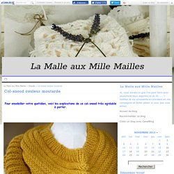 Col-snood couleur moutarde