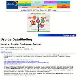 Colabora.NET: Uso de DataBinding
