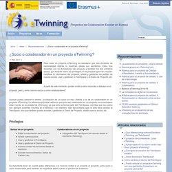 ¿Socio o colaborador en un proyecto eTwinning?