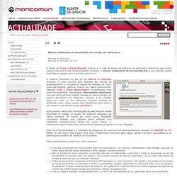 Edición colaborativa de documentos odt na nube con ownCloud 6