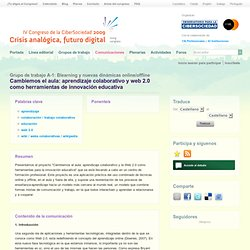 Cambiemos el aula: aprendizaje colaborativo y web 2.0 como herramientas de innovación educativa