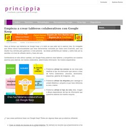 Innovación Educativa con tecnología: Empieza a crear tableros colaborativos con Google Keep