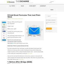 9 Cold Email Formulas That Just Plain Work