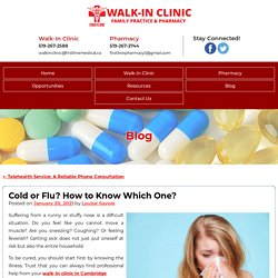 Cold or Flu? How to Know Which One?