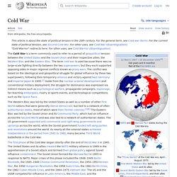 Cold War - Wikipedia