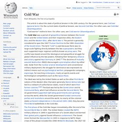 Cold War - Wikipedia