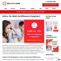 Cold vs Flu: What's the Difference in Symptoms?