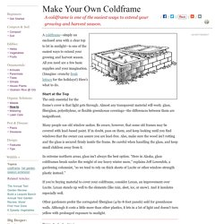 How to Make Your Own Coldframe