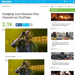 Coldplay Live Streams Free Concert on YouTube