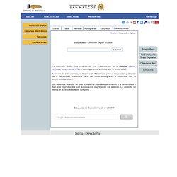 Colección digital - SISTEMA DE BIBLIOTECAS - UNMSM