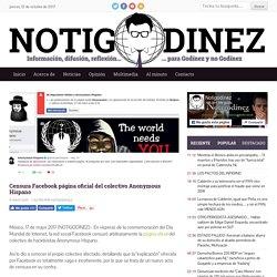 Censura Facebook página oficial del colectivo Anonymous Hispano