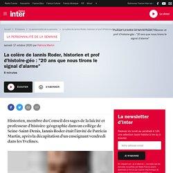 """La colère de Iannis Roder, historien et prof d'histoire-géo:""""20 ans que nous tirons le signal d'alarme"""""""