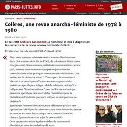 Colères, une revue anarcha-féministe de 1978 à 1980