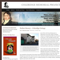 Nether Stowey – Coleridge Cottage - Coleridge Memorial Project
