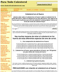 Colesterol en el Huevo - ¿Son seguros los huevos para la persona que sufre de colesterol?