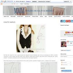 COLETE SIMPLES ~ Moldes Moda por Medida