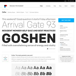 Colfax Font Family   Process Type Foundry