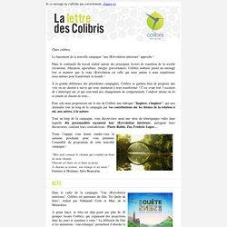 La Lettre des Colibris, février 2015 : Mouvement Colibris