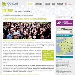 Etude Ifop pour Colibris : ce que veulent les Français