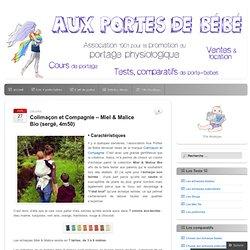 Auxportesdebebe tests Colimaçon et Compagnie – Miel & Malice Bio (sergé, 4m50)