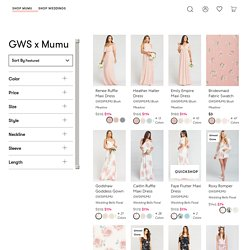 GWS x Mumu Collab: Bridesmaid Dresses Under $199 – Show Me Your Mumu