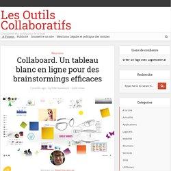 Collaboard. Un tableau blanc en ligne pour des brainstormings efficaces