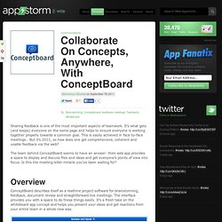 Collaborate On Concepts, Anywhere, With ConceptBoard