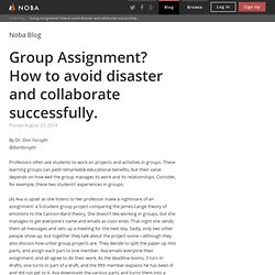 Group Assignment? How to avoid disaster and collaborate successfully. - Noba Blog