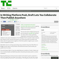 In Writing Platform Push, Draft Lets You Collaborate Then Publish Anywhere