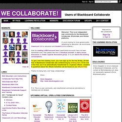 We Collaborate! - Users of Blackboard Collaborate