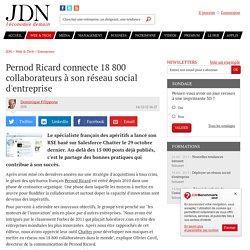 Pernod Ricard connecte 18800 collaborateurs à son réseau social d'entreprise