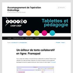 Un éditeur de texte collaboratif en ligne: Framapad