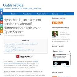 Hypothes.is, un excellent service collaboratif d'annotation d'articles en Open Source