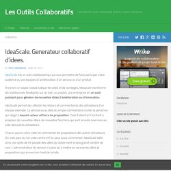 IdeaScale. Generateur collaboratif d'idees