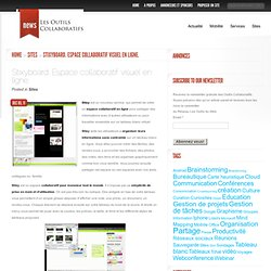 Stixyboard. Espace collaboratif visuel en ligne