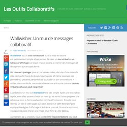 Wallwisher. Un mur de messages collaboratif