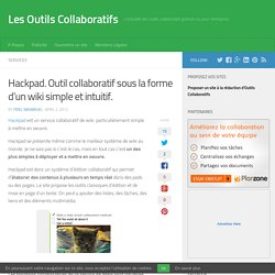 Hackpad. Outil collaboratif sous la forme d'un wiki simple et intuitif