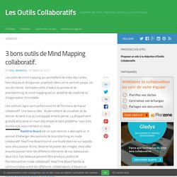 3 bons outils de Mind Mapping collaboratif