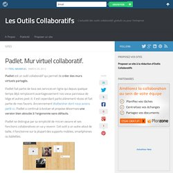 Padlet. Mur virtuel collaboratif