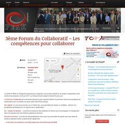 3ème Forum du Collaboratif - Les compétences pour collaborer - PEAK®