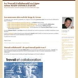Le Travail Collaboratif en Ligne selon MAIN CONSULTANTS