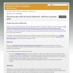 Panorama des outils de travail collaboratif : définition et grands types
