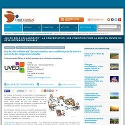 Jeu de rôle collaboratif : la concertation, une condition pour la mise en œuvre du développement durable